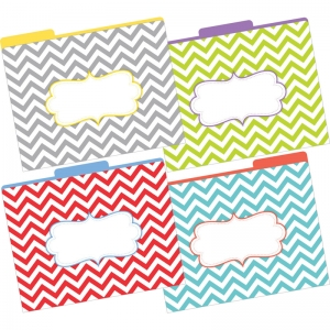 LETTER SIZE FILE FOLDERS CHEVRON  BEAUTIFUL MULTI-DESIGN SET