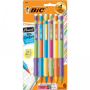 BICMATIC GRIP MECHANICAL PENCIL 6PK  0.9 MM