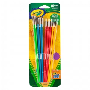 ART & CRAFT BRUSH SET 8CT BLISTER  PACK
