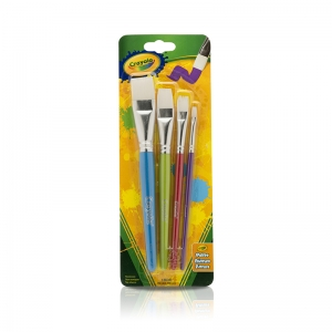 CRAYOLA BIG PAINTBRUSH SET FLAT 4PK