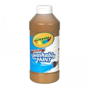 CRAYOLA WASHABLE PAINT 16 OZ BROWN
