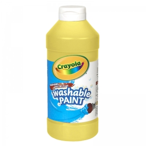 CRAYOLA WASHABLE PAINT 16 OZ YELLOW