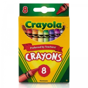 Crayola RegularSize Crayons, 8 colors