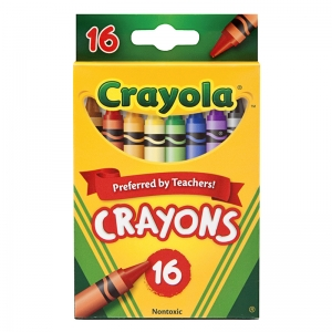 Crayola RegularSize Crayons, 16 colors