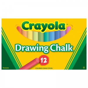 CRAYOLA COLORED DRAWING CHALK ASST