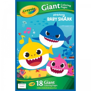 Giant Coloring Pages, Baby Shark