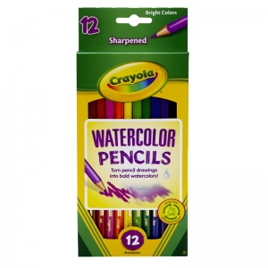 WATERCOLOR PENCILS 12CT FULL LENGTH