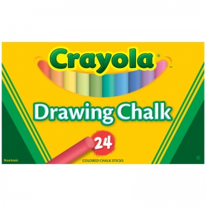 Drawing Chalk, Assorted, 24 Count