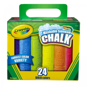 Crayola Washable Sidewalk Chalk, 24 ct