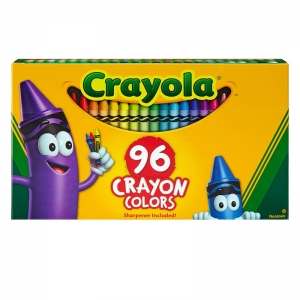 CRAYOLA 96CT CRAYONS HINGED TOP BOX
