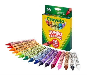 (3 ST) CRAYOLA JUMBO CRAYONS 16 COLOR SET
