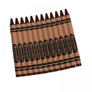 CRAYOLA BULK CRAYONS 12 COUNT BROWN
