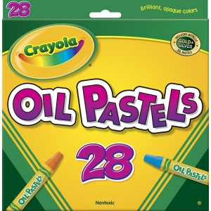 CRAYOLA OIL PASTELS 28 COLOR SET