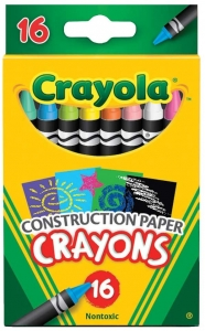 Construction Paper Crayons, 16 Per Box, 6 Boxes