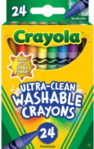 UltraClean Washable Crayons  Regular Size, 24 Per Pack, 6 Packs