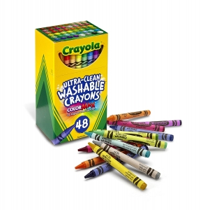 UltraClean Washable Crayons  Regular Size, 48 Per Pack, 3 Packs