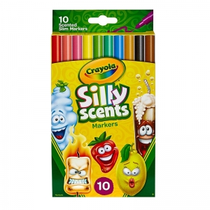 CRAYOLA SILLY SCNT 10PK SLIM MARKER  WASHABLE