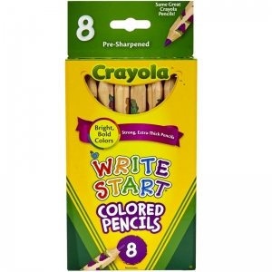 CRAYOLA WRITE START 8 CT COLORED  PENCILS