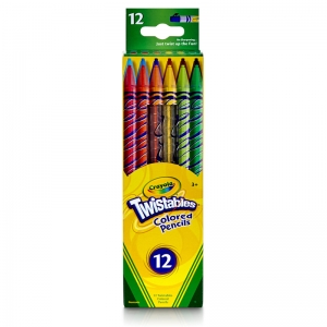 CRAYOLA TWISTABLES 12 CT COLORED  PENCILS