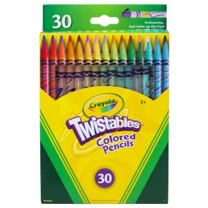 CRAYOLA TWISTABLES 30 CT COLORED  PENCILS