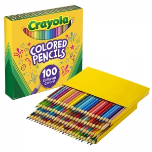 CRAYOLA COLORED PENCILS 100 COLORS