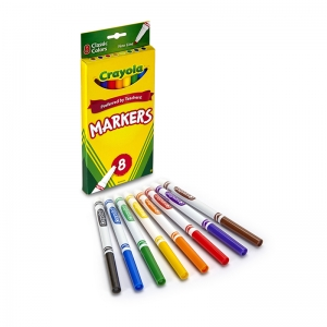 ORIGINAL DRAWING MARKERS 8 COLOR  FINE TIP