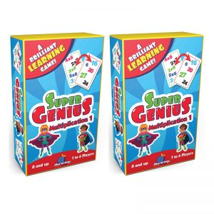 Super Genius Multiplication 1 Game, Pack of 2