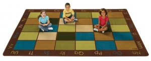 Nature's Colors Seating Rug  ,  6' x 9' Rectangle