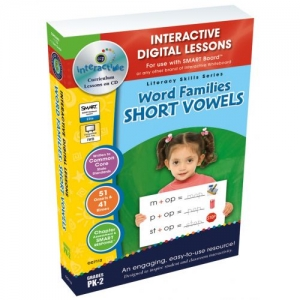 WORD FAMILIES SHORT VOWELS SOFTWARE