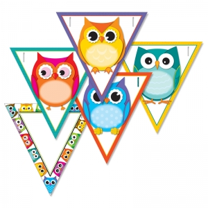 COLORFUL OWLS BANNERS GR PK-12