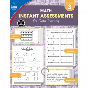 Math Instant Assessments for Data Tracking Resource Book, Grade 3