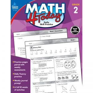 Math 4 Today Workbook, Grade 2, Pack of 3