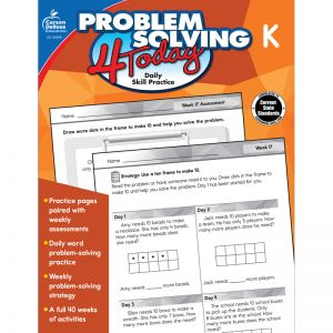 Problem Solving 4 Today Workbook, Grade K, Pack of 3