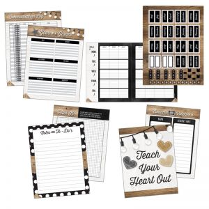 Industrial Chic Teacher Planner Plan Book, Pack of 2