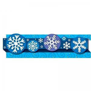 Snowflakes Pop-Its Straight Borders, 24'