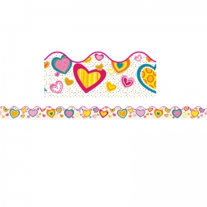 HEARTS SCALLOPED BORDER