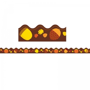 Acorns & Pumpkins Scalloped Borders, 39'