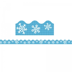 Snowflakes and Argyle Scalloped Borders, 39'