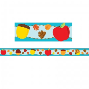 APPLES & ACORNS STRAIGHT BORDER