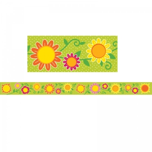 Sunshine & Flowers Straight Borders, 36'