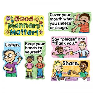 Good Manners Matter Mini Bulletin Board Set, Grade PK2, 3 Sets