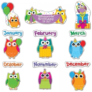 Colorful Owls Birthday