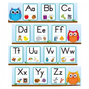 COLORFUL OWLS ALPHABET GRADES