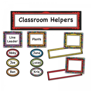 COLORFUL CHALKBOARD CLASSROOM  MANAGEMENT BB SET
