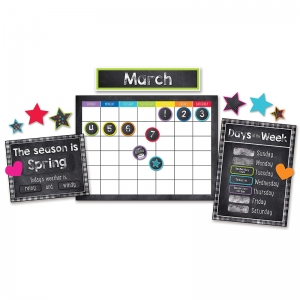 Stars Calendar Bulletin Board Set