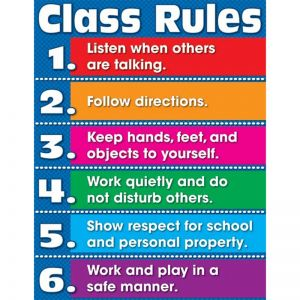 Class Rules Chart, Pack of 6