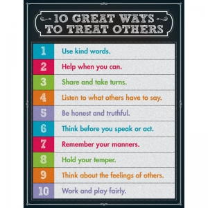 10 Great Ways to Treat Others Chartlets, Grades 1-5+