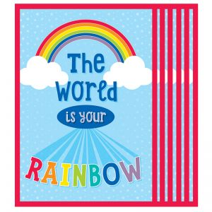 Hello Sunshine World Is Your Rainbow Chart, Pack of 6