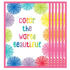 Hello Sunshine Color the World Beautiful Chart, Pack of 6