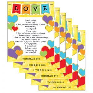 Love Verses Chart, Pack of 6